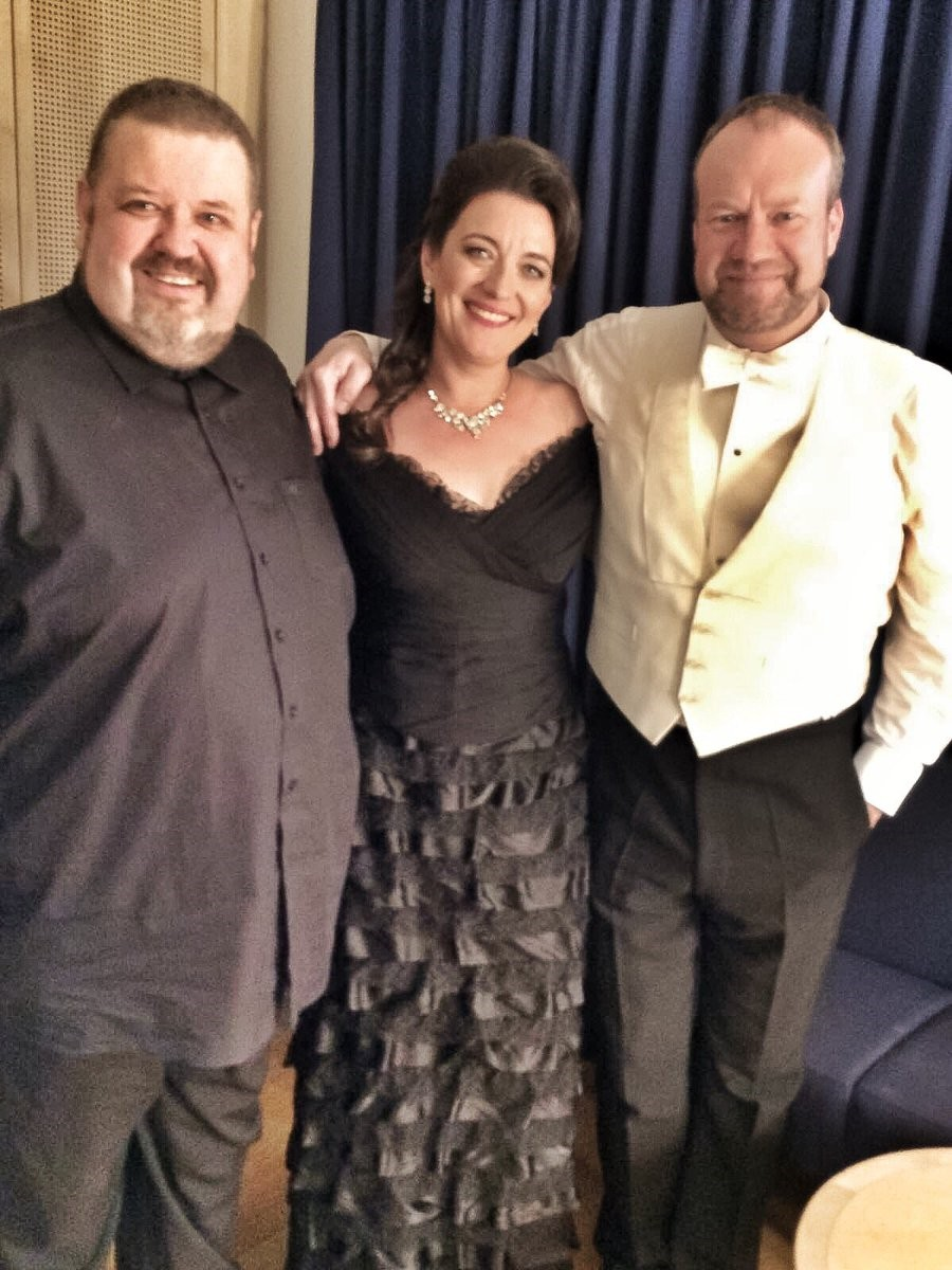 With Johan Botha and Johan Reuter 2016 Walküre